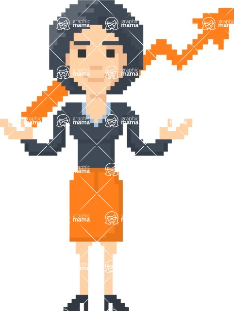 Pixel Art Maker | Create 8 Bit Woman Vector Graphic - Pixel Woman 28