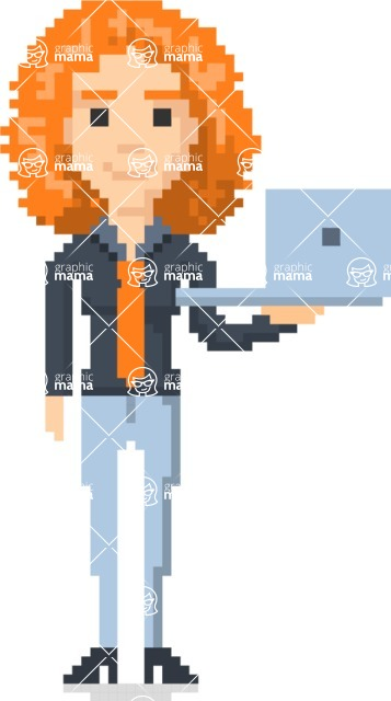 Pixel Art Maker | Create 8 Bit Woman Vector Graphic - Pixel Woman 5