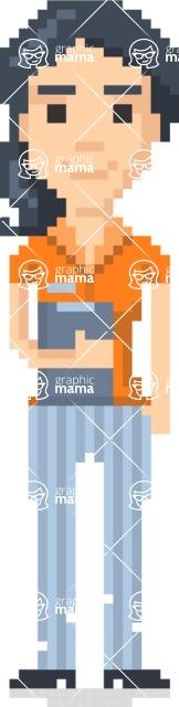 Pixel Art Maker | Create 8 Bit Woman Vector Graphic - Pixel Woman 6
