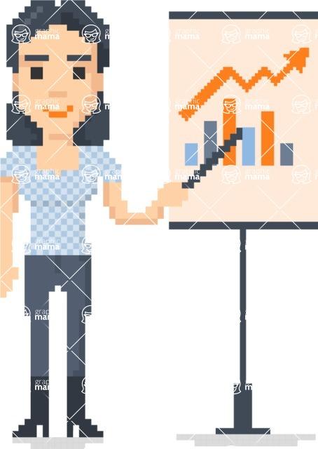 Pixel Art Maker   Create 8 Bit Woman Vector Graphic - Pixel Woman 9