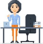 Pixel Art Maker | Create 8 Bit Woman Vector Graphic - Pixel Woman 29