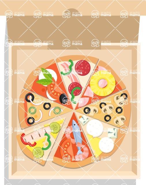 Pizza Time - Assorti pizza in box