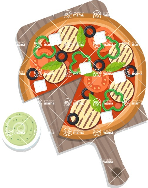 Pizza Time - Pizza with guacamole and grilled cheese