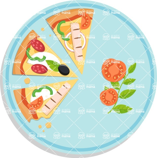 Pizza Time - Beautiful plate with pizza