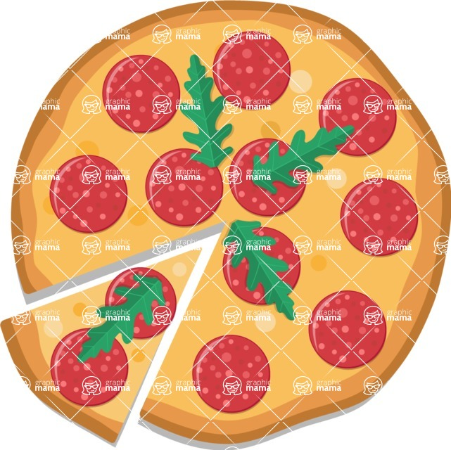 Pizza Time - Pizza with pepperoni