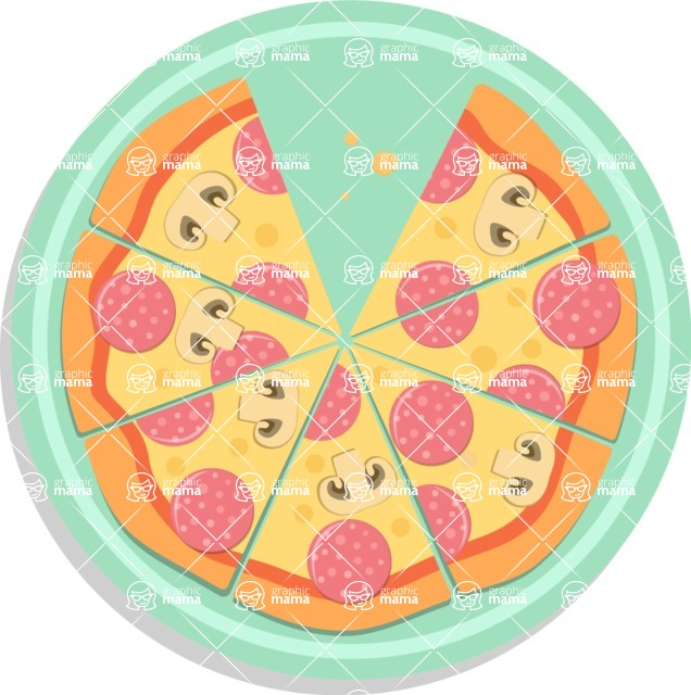 Pizza Time - Pizza with seven slices