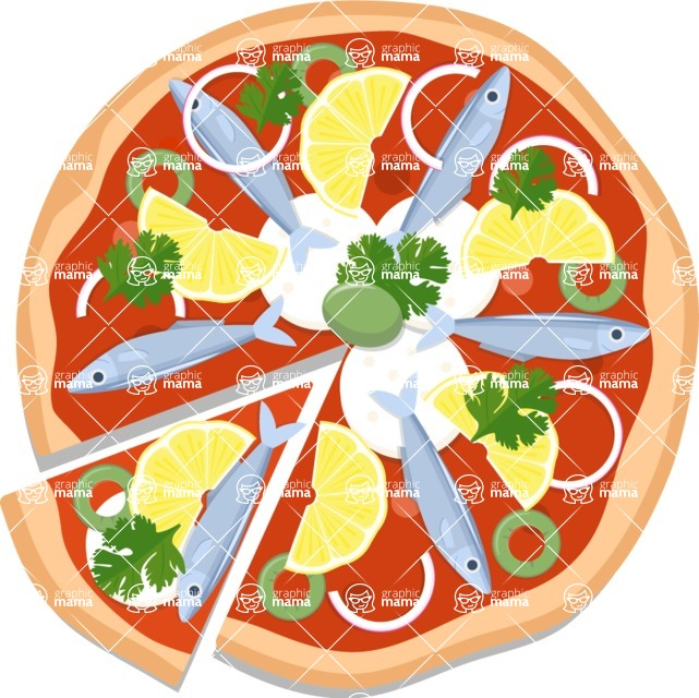 Pizza Time - Pizza with fish and lemon