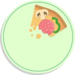 Vector Pizza Graphics Maker - Pizza slice leftover