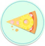 Vector Pizza Graphics Maker - Whole pizza slice with pineapple