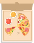 Vector Pizza Graphics Maker - Delicious pizza with toppings