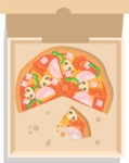 Vector Pizza Graphics Maker - Delicious pizza in box