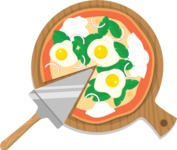 Vector Pizza Graphics Maker - Pizza with eggs