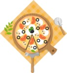 Vector Pizza Graphics Maker - Fresh Italian pizza