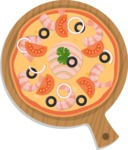 Vector Pizza Graphics Maker - Pizza with shrimps