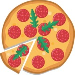 Vector Pizza Graphics Maker - Pizza with pepperoni
