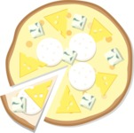 Pizza Time - Whole vector pizza with cheeses