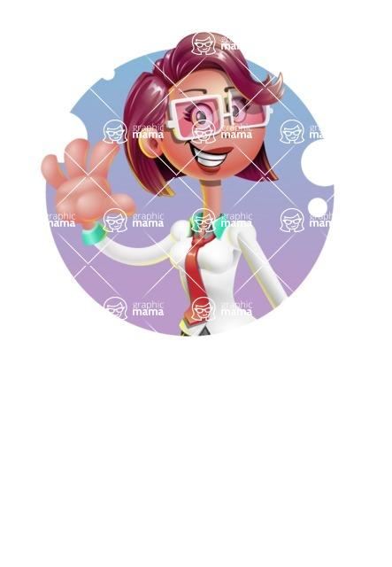 Business Girl 3D Vector Cartoon Character AKA Stephanie - Shape 1