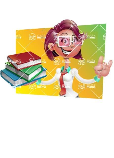 Business Girl 3D Vector Cartoon Character - Shape 3