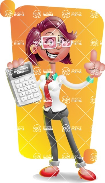 Business Girl 3D Vector Cartoon Character AKA Stephanie - Shape 5