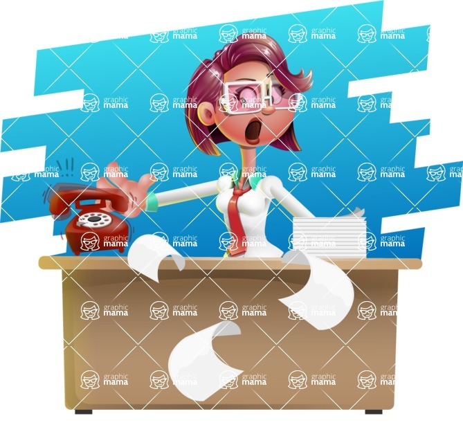 Business Girl 3D Vector Cartoon Character AKA Stephanie - Shape 9
