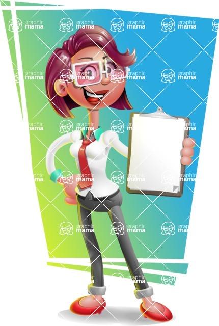 Business Girl 3D Vector Cartoon Character AKA Stephanie - Shape 11
