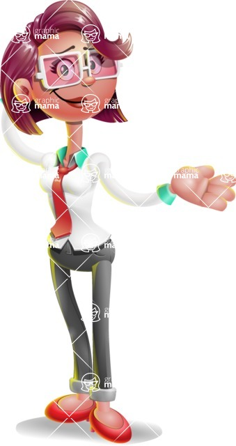 Business Girl 3D Vector Cartoon Character - Sorry