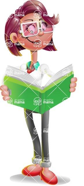 Business Girl 3D Vector Cartoon Character AKA Stephanie - Book 1