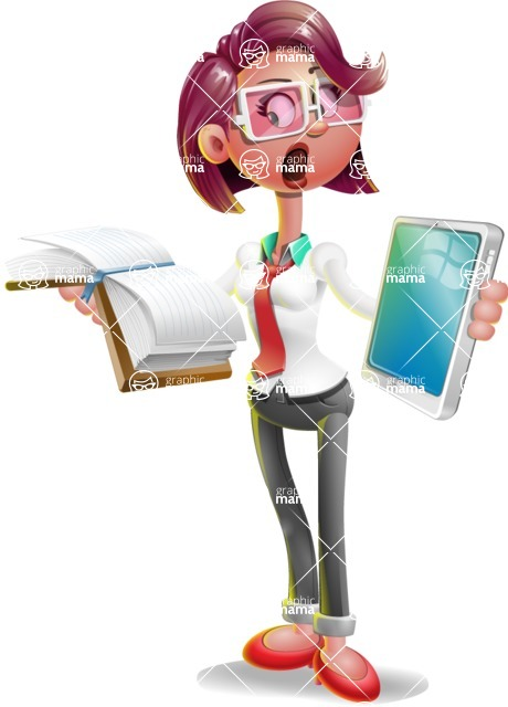 Stephanie as Miss Smarty Tie - Book and iPad