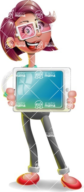 Business Girl 3D Vector Cartoon Character AKA Stephanie - iPad 2
