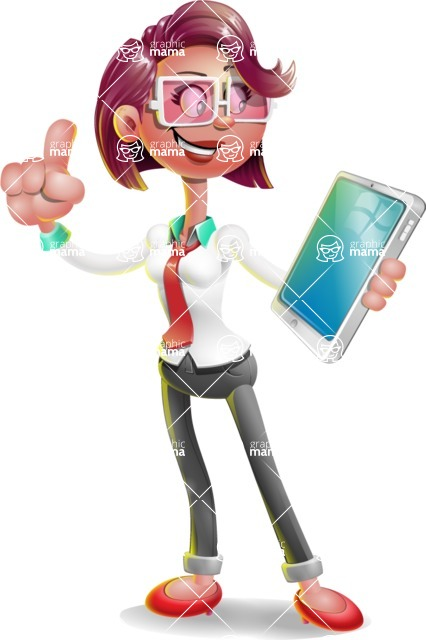 Business Girl 3D Vector Cartoon Character AKA Stephanie - iPad 3