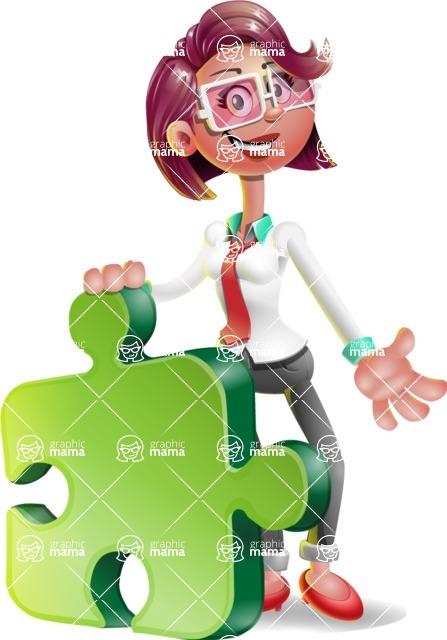 Stephanie as Miss Smarty Tie - Puzzle