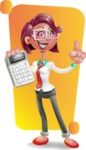 Business Girl 3D Vector Cartoon Character - Shape 5