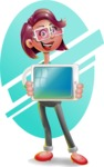 Business Girl 3D Vector Cartoon Character - Shape 6