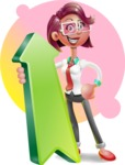 Business Girl 3D Vector Cartoon Character - Shape 8