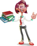 Business Girl 3D Vector Cartoon Character - Book 2