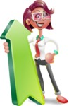 Business Girl 3D Vector Cartoon Character - Pointer 1
