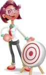 Business Girl 3D Vector Cartoon Character AKA Stephanie - Target