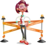 Business Girl 3D Vector Cartoon Character - Under Construction 2