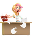 Cute Blonde Girl In Jeans Cartoon Vector 3D Character AKA Rosie - Office fever