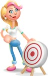 Cute Blonde Girl In Jeans Cartoon Vector 3D Character AKA Rosie - Target
