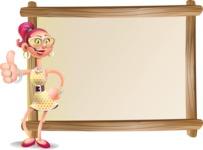 Fashion Girl Cartoon 3D Vector Character AKA Miss Charlene - Presentation 5