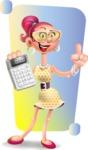 Fashion Girl Cartoon 3D Vector Character AKA Miss Charlene - Shape 5