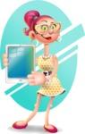 Fashion Girl Cartoon 3D Vector Character AKA Miss Charlene - Shape 6