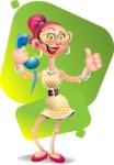 Fashion Girl Cartoon 3D Vector Character AKA Miss Charlene - Shape 7