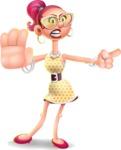 Fashion Girl Cartoon 3D Vector Character AKA Miss Charlene - Direct Attention