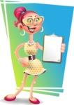 Fashion Girl Cartoon 3D Vector Character AKA Miss Charlene - Shape 11