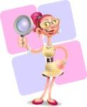 Fashion Girl Cartoon 3D Vector Character AKA Miss Charlene - Shape 12