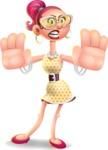 Fashion Girl Cartoon 3D Vector Character AKA Miss Charlene - Stop