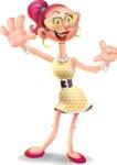 Fashion Girl Cartoon 3D Vector Character AKA Miss Charlene - Hello