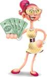 Fashion Girl Cartoon 3D Vector Character AKA Miss Charlene - Show me  the Money